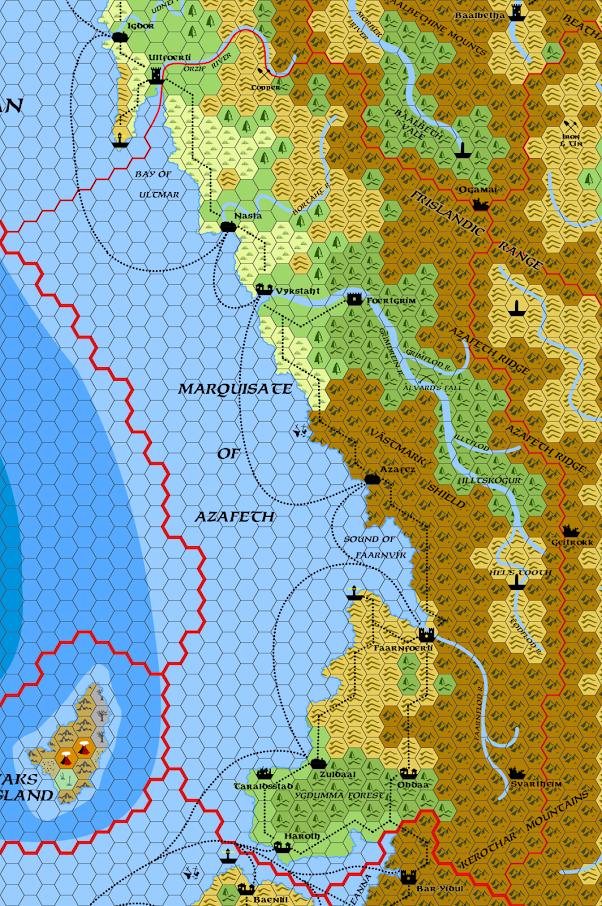 Mystara Alphatia Frisland Azafeth Hex Map