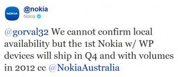 Nokia Windows Phones confirmed to ship in Q4