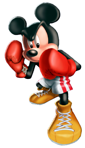 Mickey entrenando al boxeo