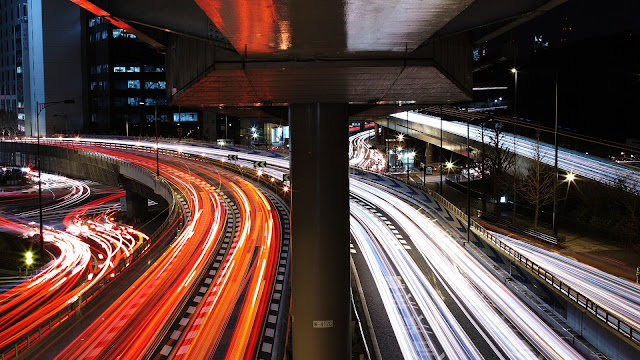 Tokyo traffic stream HD Wallpaper