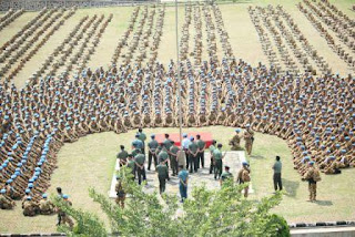 Gelar Perlengkapan Satgas Yonmek TNI Konga
