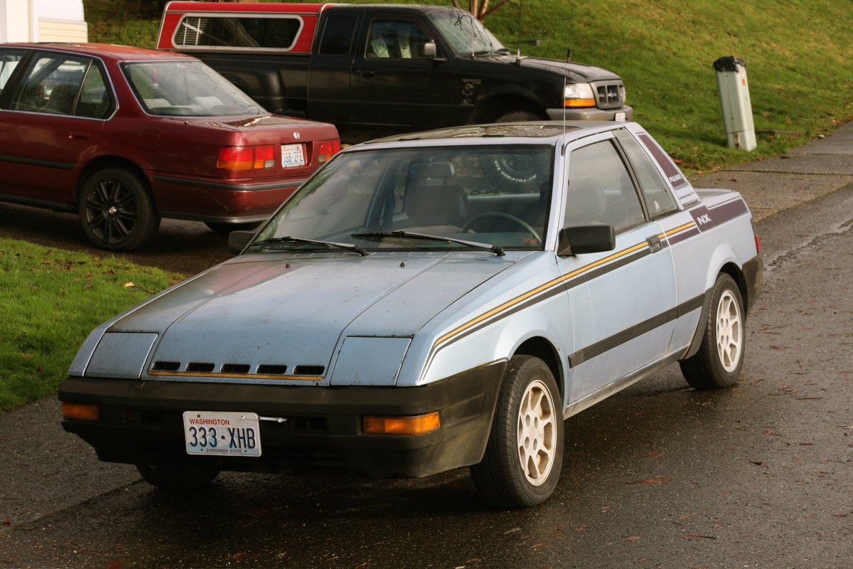 OLD PARKED CARS.: Two-For Tuesday: 1984 Datsun/Nissan Pulsar NX.