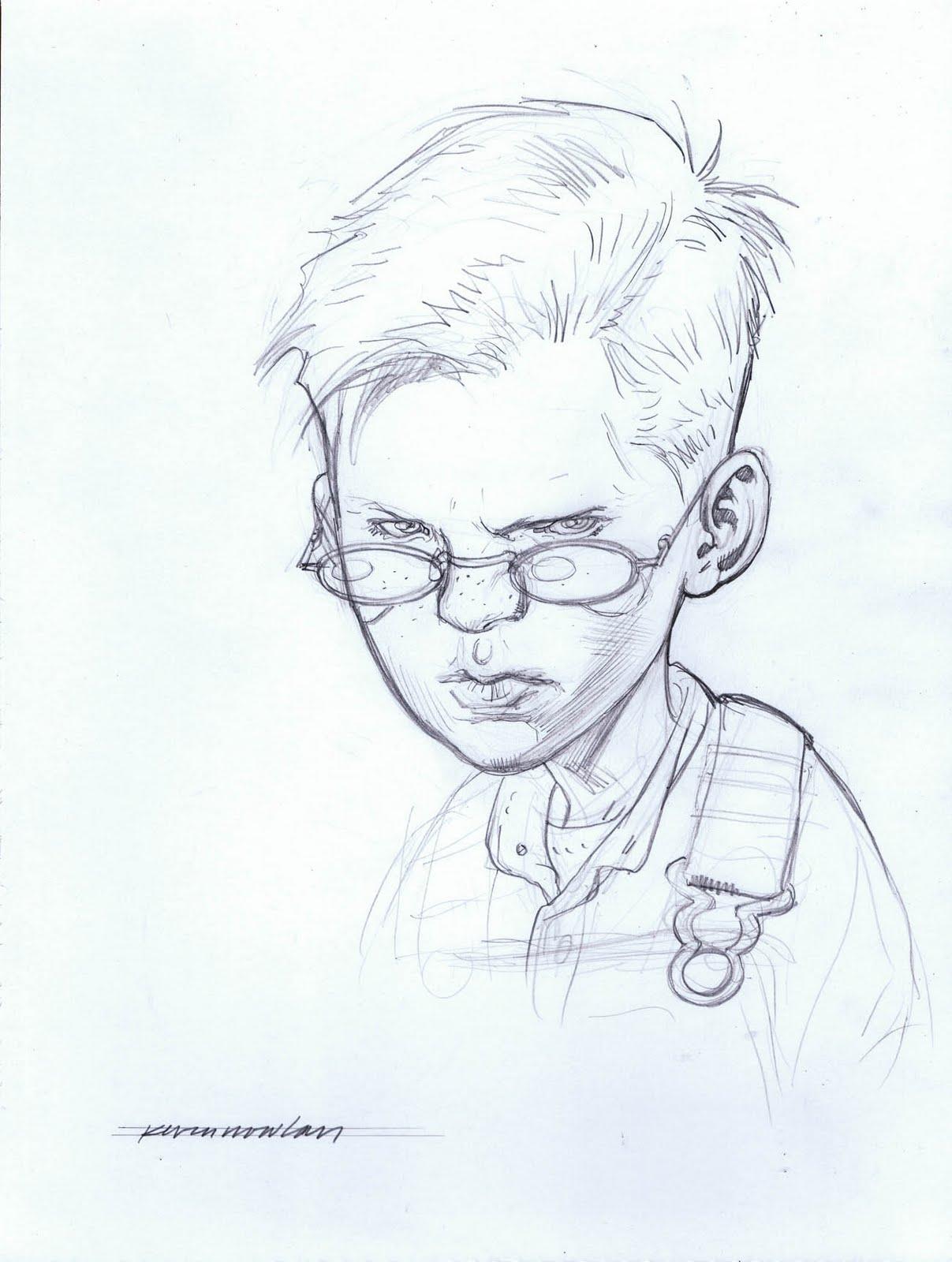 Jack b quick pencil sketch