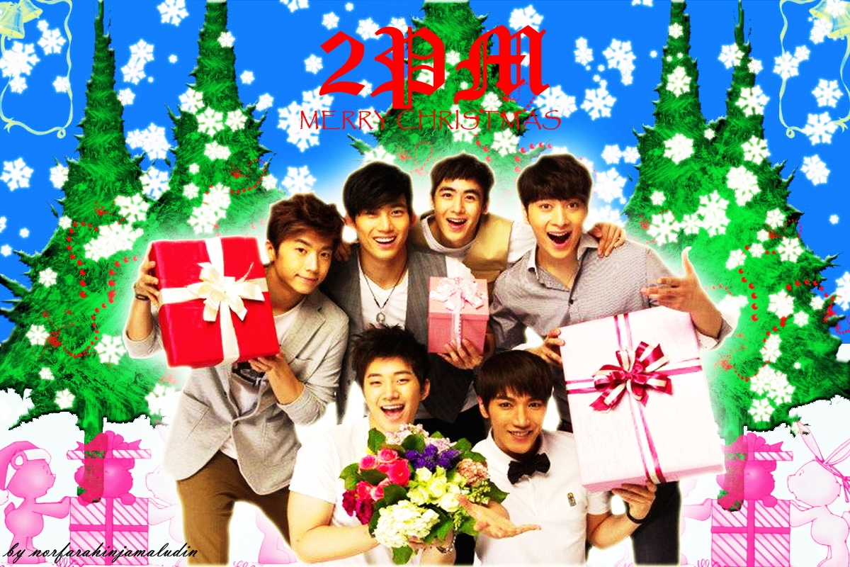 POP FEVER just for kpop fanz: 2PM CHRISTMAS 2011 WALLPAPER