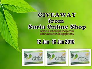 Giveaway, contest, qiya, saad, suria, online, shop