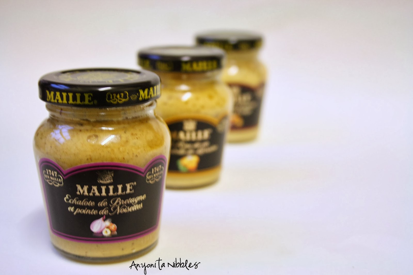 Maille's Mustard with Brittany Shallots and Hazelnuts from www.anyonita-nibbles.com