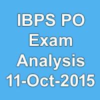 IBPS PO Pre 11 oct 2015 slot 1 exam analysis