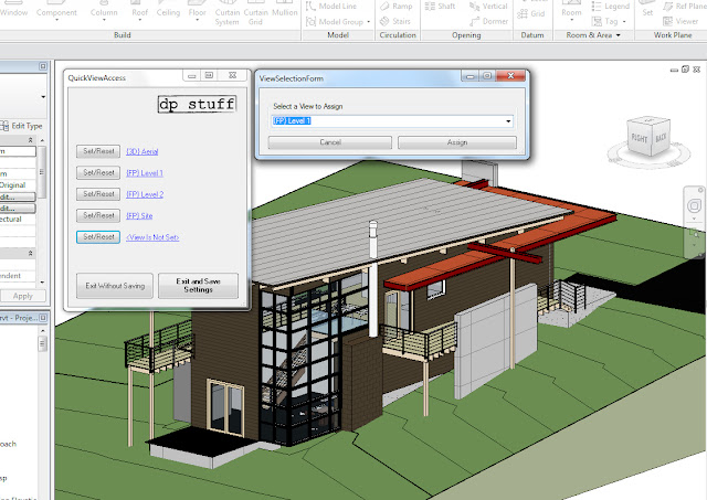 QuickViewAccess Revit Addin in action