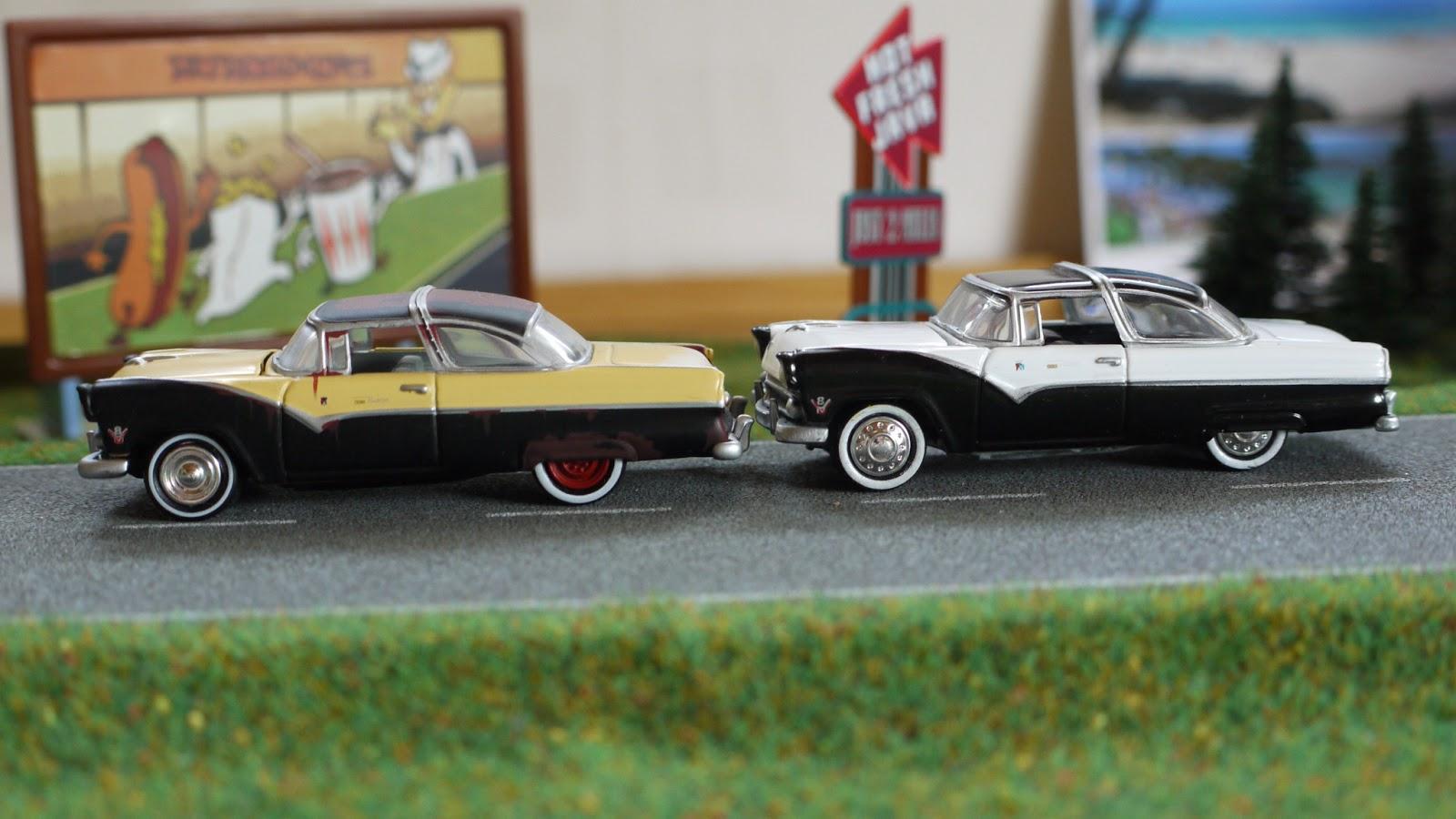 Diecast Cars 1 64 Modellautos 164 Modellbilar 1955 Ford F100 Vector 1956 Crown Victoria Hot Wheels