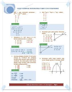 Bagi Bagi Catatan Latihan Soal Un Matematika Smk Teknologi 2013 Pembahasan