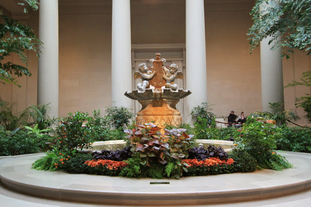 Love Cupid Fountain at National Gallery of Art in Washington DC, USA