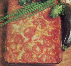 Receta Fuente de tomates y zuchinis al graten