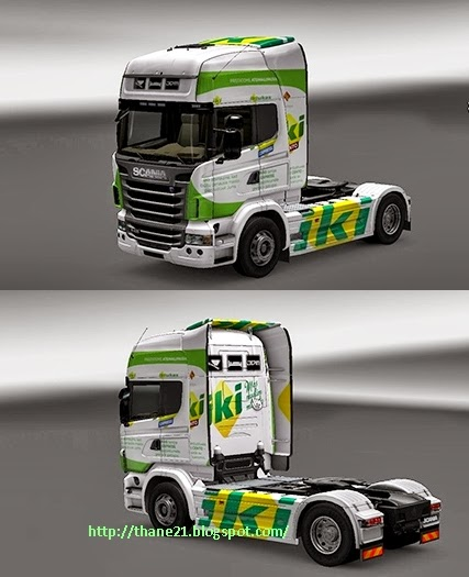 Euro Truck Simulator 2 : Scania Mod Skin