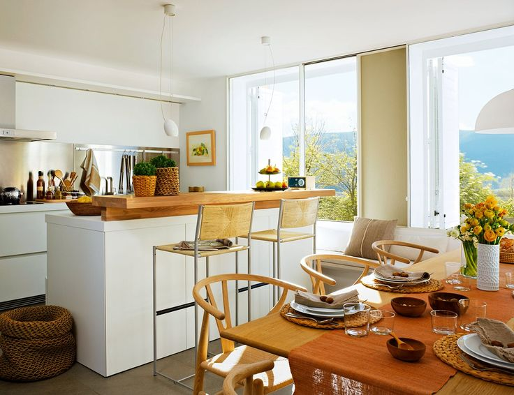 Decotips c mo ganar metros en la cocina y ubicar un for Cocina con comedor diario