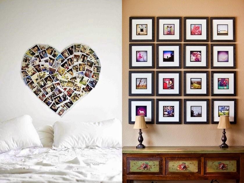 6 pomys w na ozdobienie ciany miu design blog - Como hacer un cuadro con fotos familiares ...