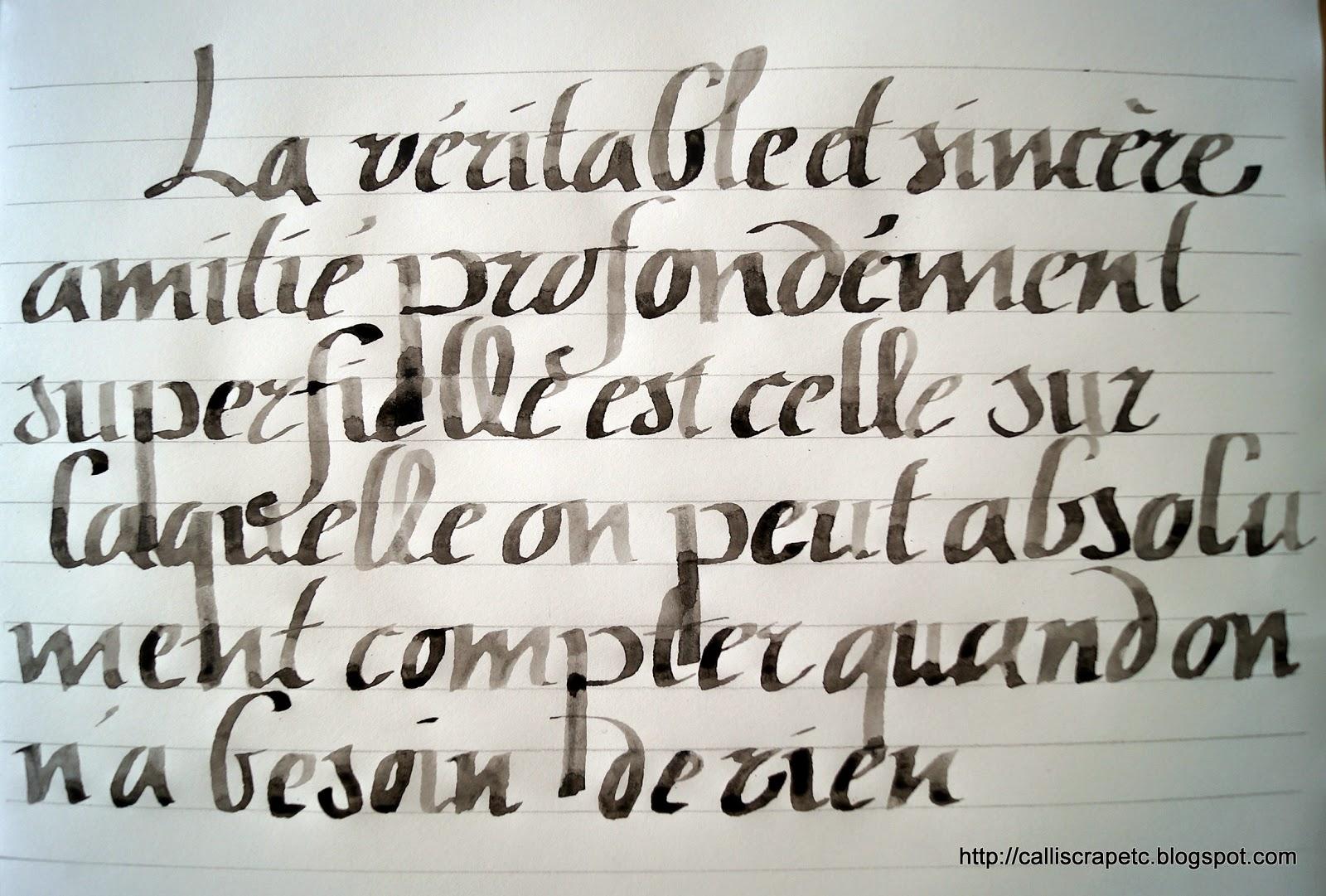 Calligraphie Polices Polices d'écriture et fontes - Écriture Calligraphique Pour Tatouage