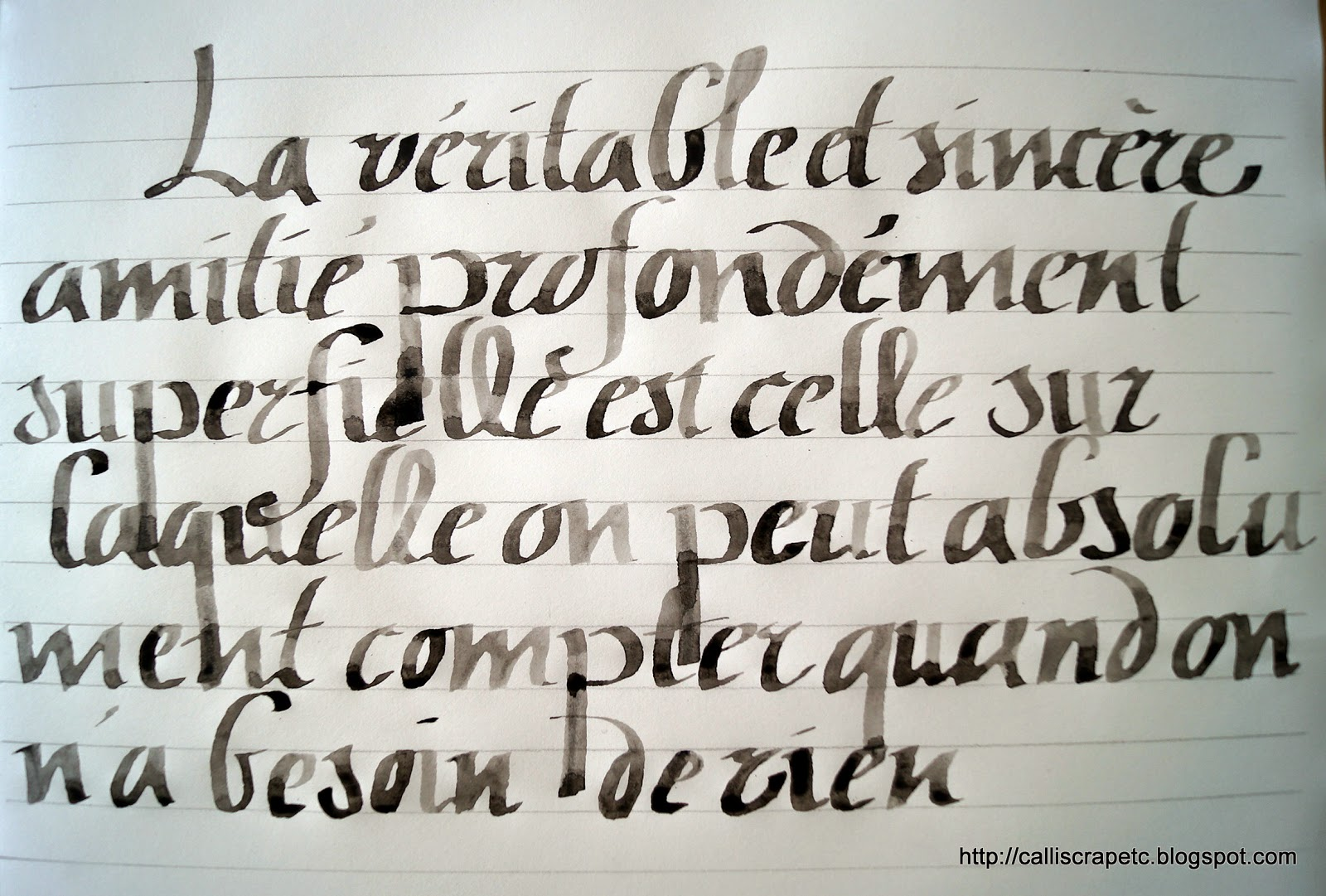 Natcalli Calligraphie & Illustration - Modele Calligraphie Tatouage