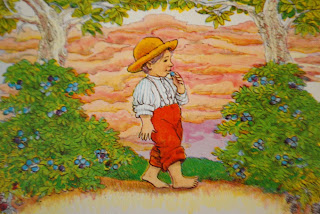 Boy eating berries in Jamberry by Bruce Degen