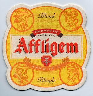 recto de la bière blonde Abbaye d'Affligem