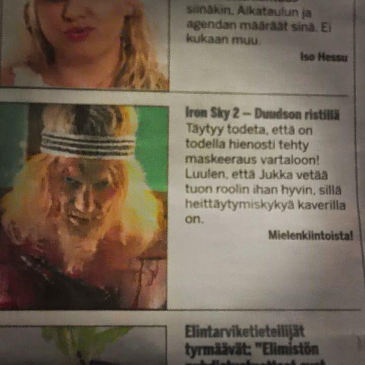 Iron Sky: Jesus Attack (Jukka Hilden) video. Tehostemaskeeraus: Ari Savonen.