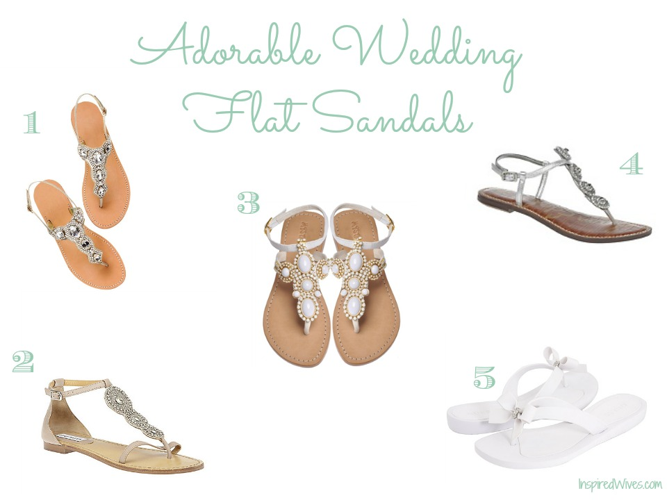 Inspired i dos adorable wedding flat sandals adorable wedding flat sandals junglespirit Choice Image