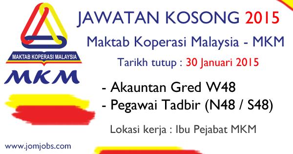 Jawatan Kosong Maktab Koperasi Malaysia (MKM) 2015 Terkini