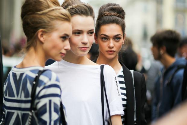 Girls at Ermanno Scervino, Milano, September 2014