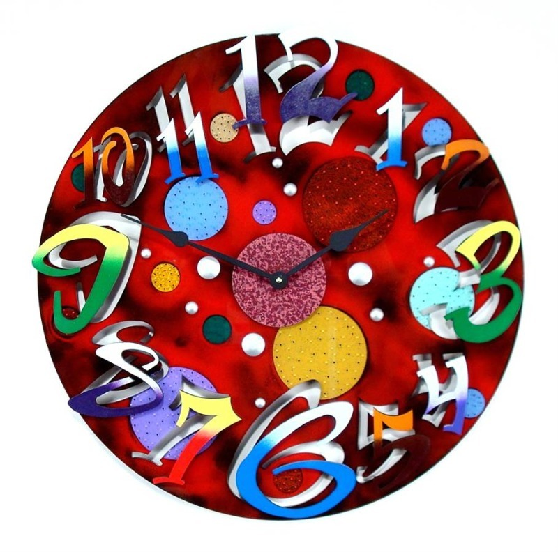 Wall Clock Art Design : Fashion and art trend unique creative stylish wall