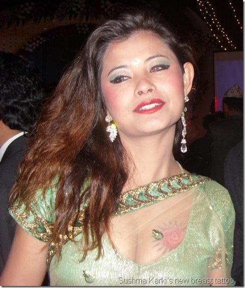 Tattooe On Breast Sushma Karki Following Karishma S Step