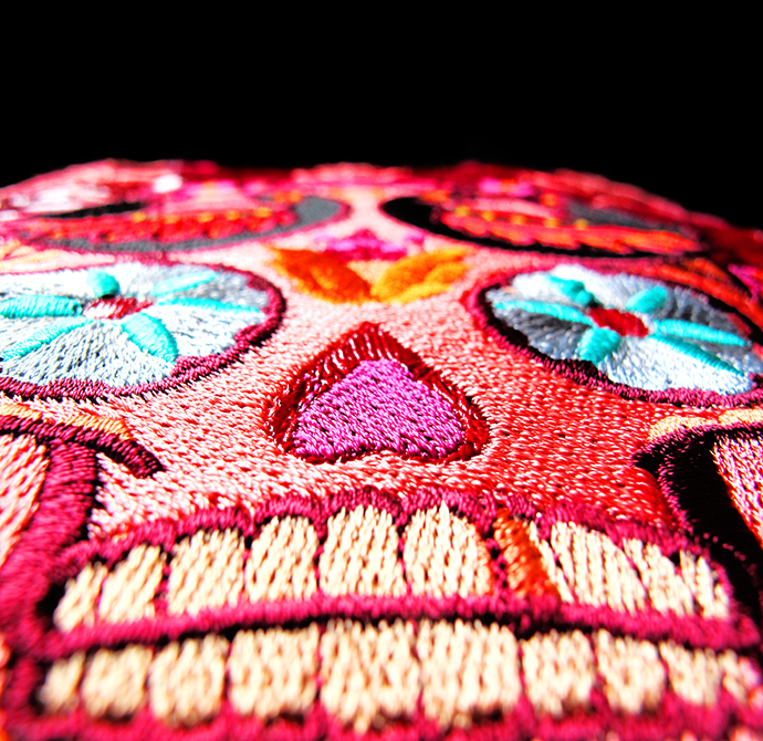 oonaballoona | a sewing blog by marcy harriell | halloween sugar skull embroidery