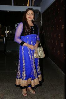 Actress Indraja Latest Pictures in Blue Salwar Kameez at Dikkulu Chudaku Ramayya Audio Launch 028