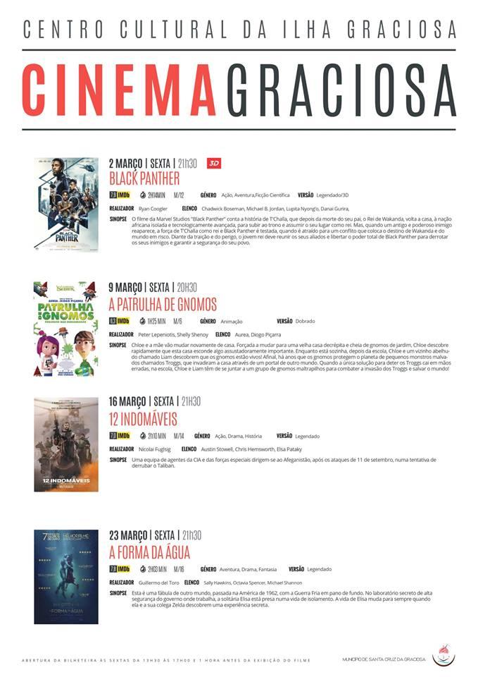 Cartaz Cinema Março 2018
