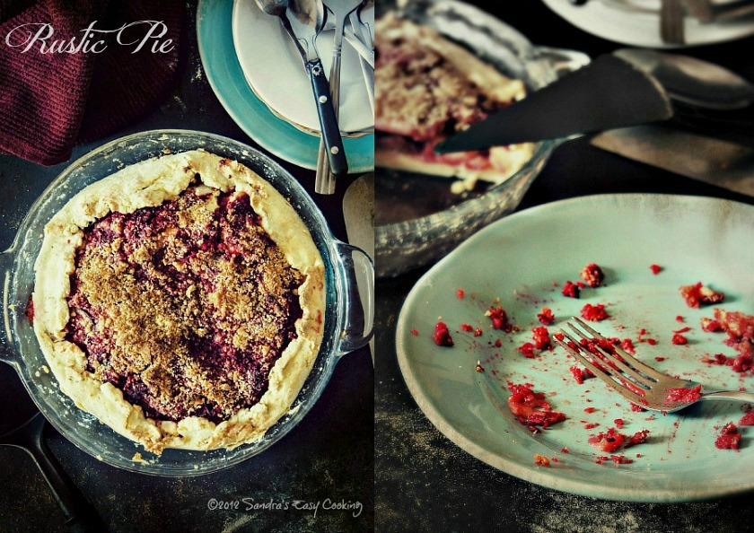Delicious and homemade Rustic Pie with Beets, Apples and Plums