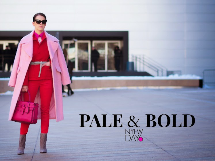 ASOS, bittersweet colours, Christian Dior, colorful coats, eye cat sunglasses, fuzzy coat, Lincoln Center NYFW, Mango, New York, NYFW, nyfw F/W 2014, nyfw street style, Pink coat, RED, Reed Krakoff, vintage,