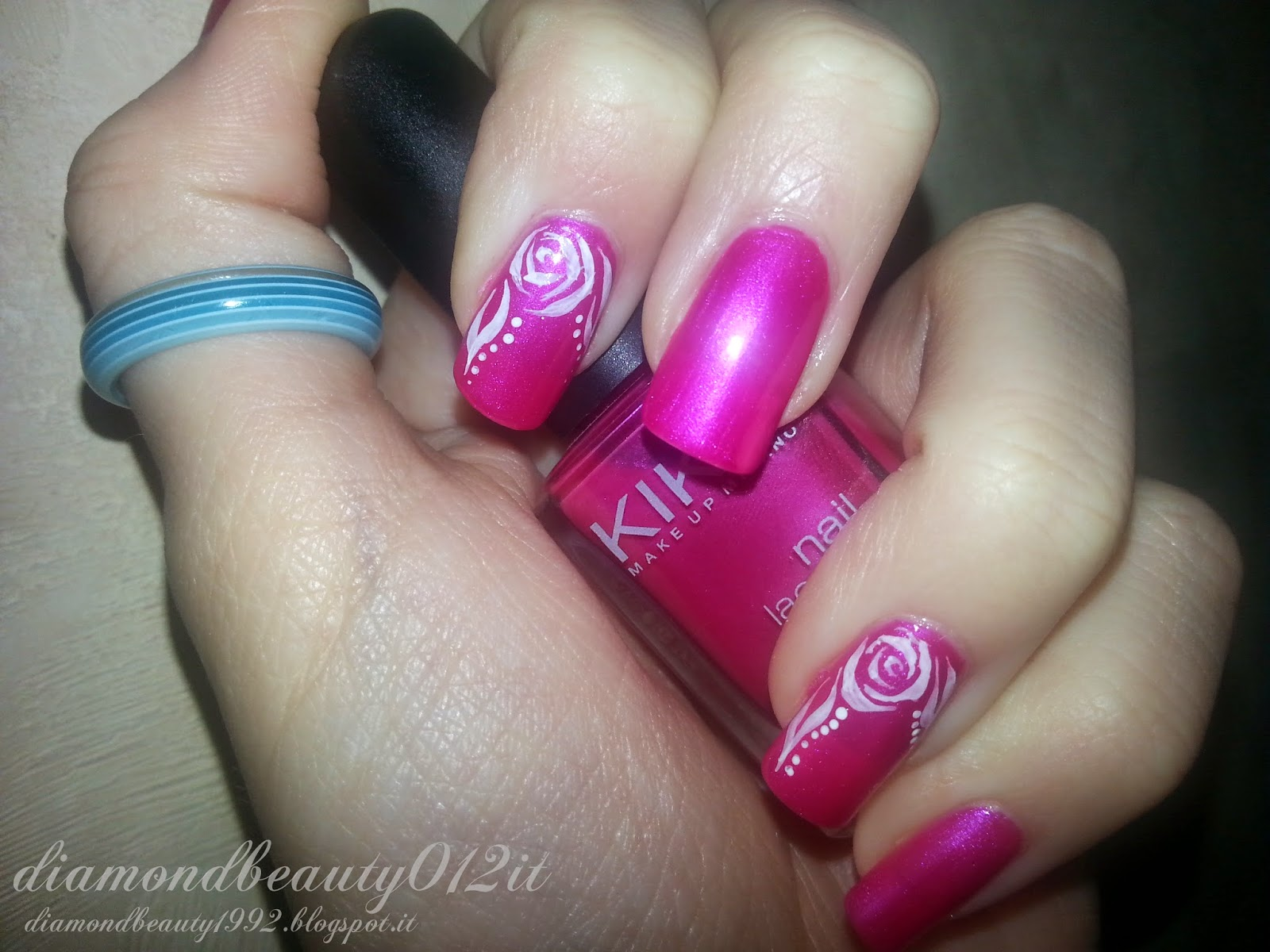 rosa stilizzata nail art collection by madda fashion