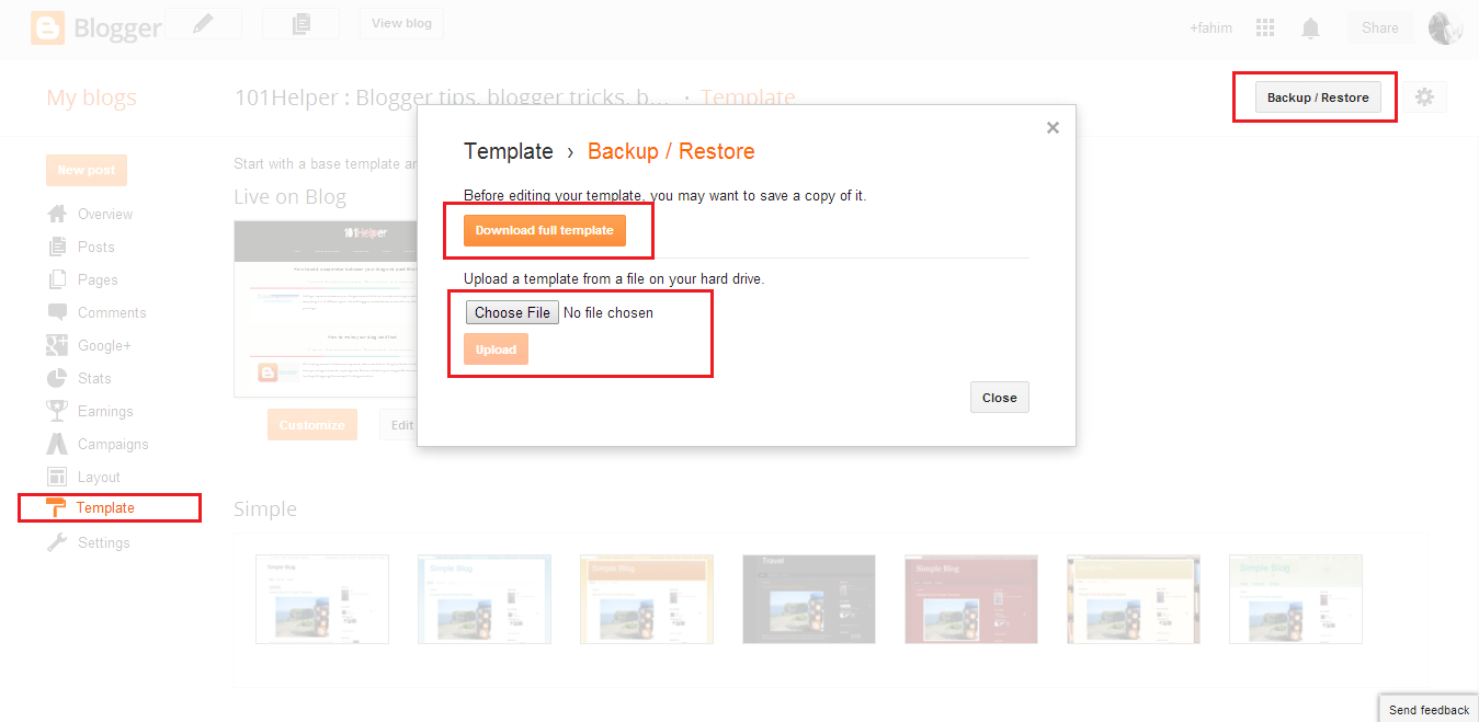 How to change template in blogger | 101Helper