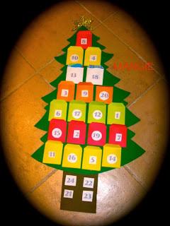 Calendario árbol navidad