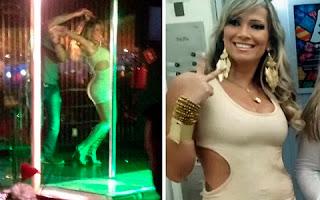 Em uma das imagens, uma moça aparece completamente nua enquanto sensualiza em um pole dance. Procurada pelo 'Ego', Fani confirmou que esteve no local, mas negou que tenha ficado nua e afirmou não ser ela na foto da loira sem roupa.