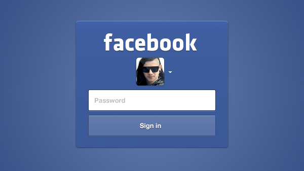 An incredibly versatile Facebook login interface. The download
