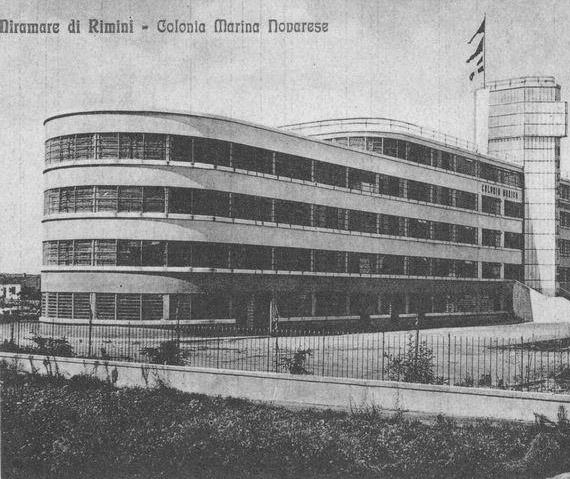 """1938- 28 GIUGNO - RIMINI - La Colonia Marina """"X Legio"""" di Miramare"""