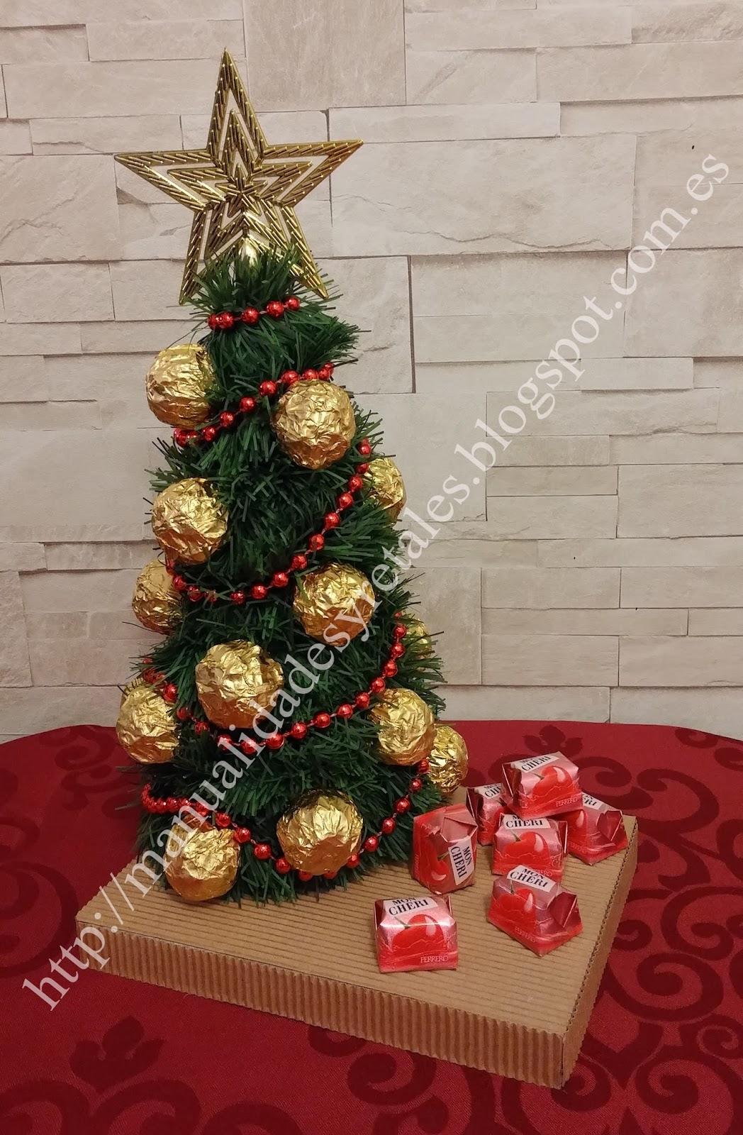Manualidades y retales arbol bombones - Detalles de navidad manualidades ...