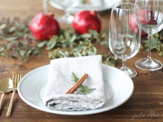 navidad decoracion de ltima hora para la mesa