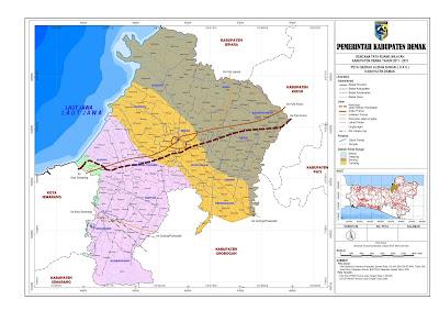 Peta Daerah Aliran Sungai Kabupaten Demak
