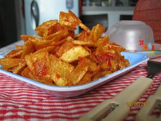 Cara membuat keripik kentang pedas