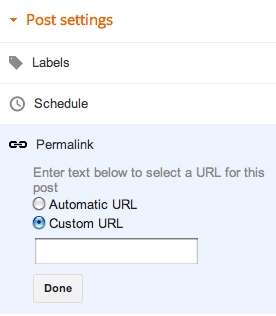 Cara Custom URL Permalink pada Blogger Blogspot