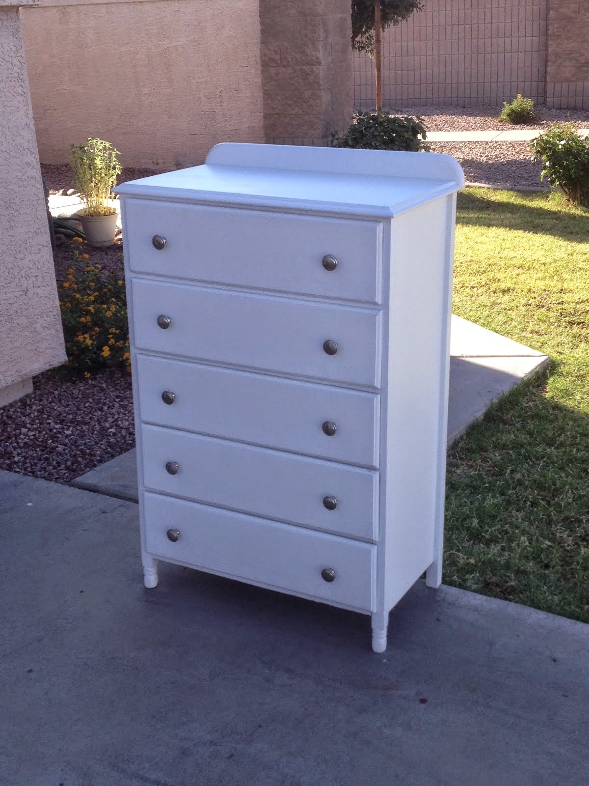 White Chest of Drawers  *SOLD*