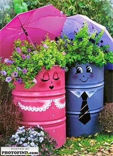 Dise o de jardines ideas para decorar el jard n reciclando - Ideas para decorar el jardin reciclando ...