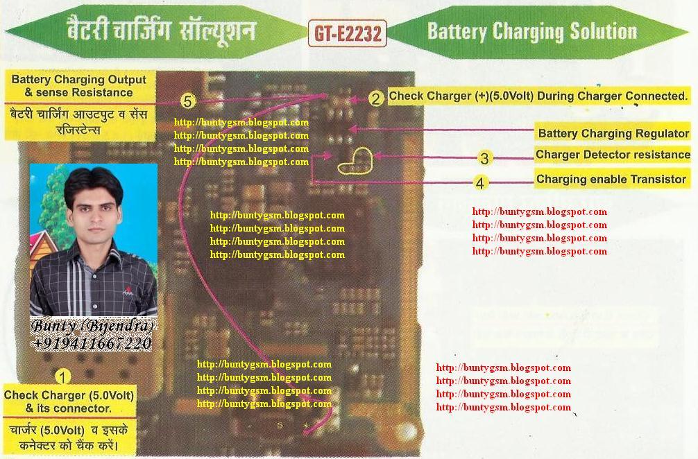Samsung E2232 Charging Solution By BuntyGSM Mobile Repairing Institute