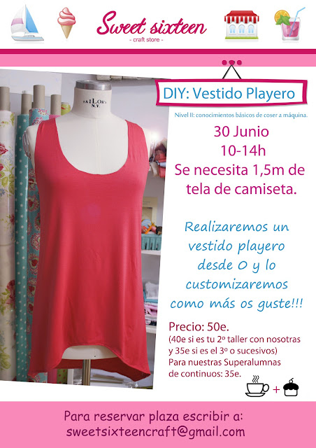 Taller costura: Vestido Playero. Sweet sixteen, madrid