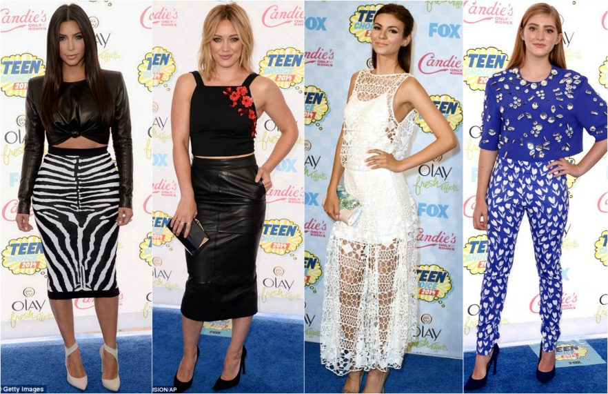 Worst dressed, Teen Choice Awards 2014, Kim Kardashian, Victoria Justice, Willow Sheilds, Hilary Duff